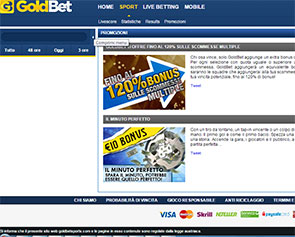 Screenshot Goldbet