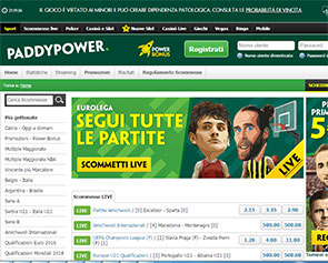 Screenshot Paddy Power