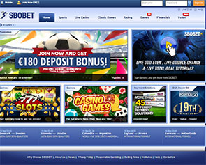 Screenshot Sbobet